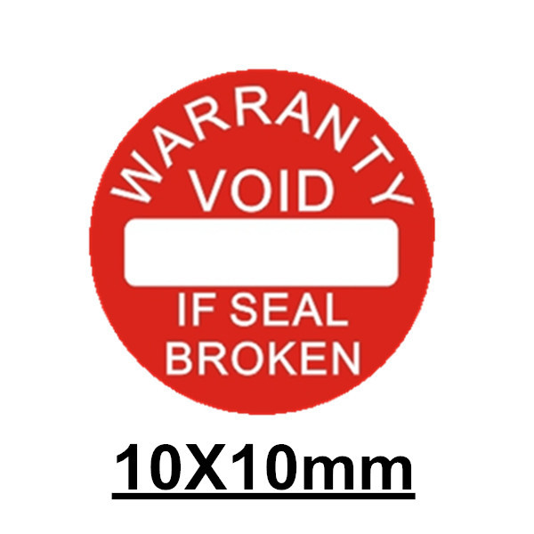 500pcs/lot Diameter 10 mm Warranty sealing label sticker void if seal broken damaged, Universal with years and months for fragile warranty sticker shall be null and void the warranty and black and red round 0 25 cm vulnerable if mobile