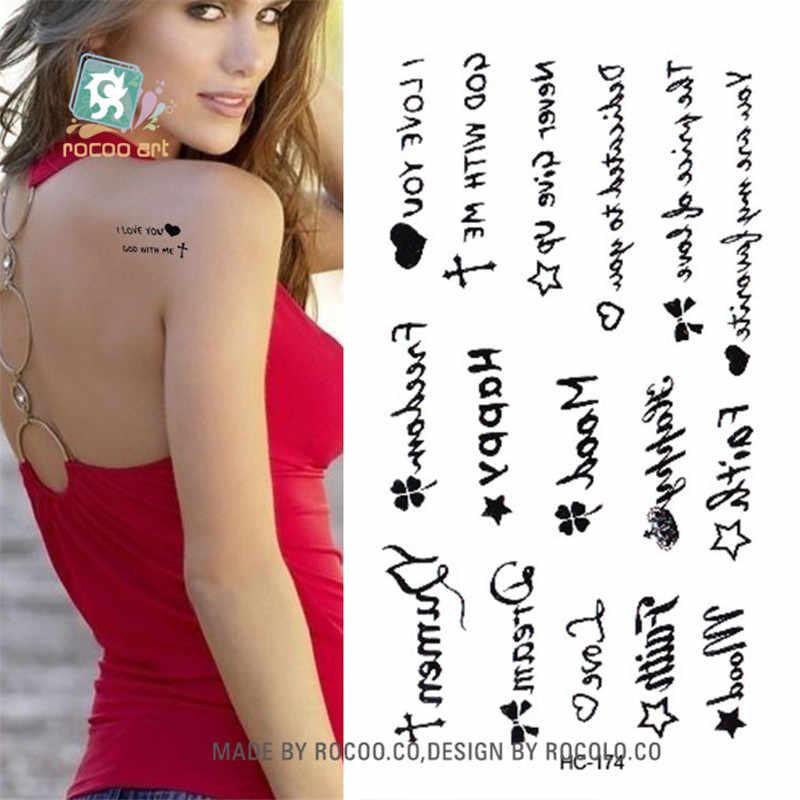 Di Arte di corpo impermeabile tatuaggi temporanei di carta per gli uomini e le donne Del Sesso semplice lettera di disegno piccolo autoadesivo del tatuaggio Commercio All'ingrosso HC1174