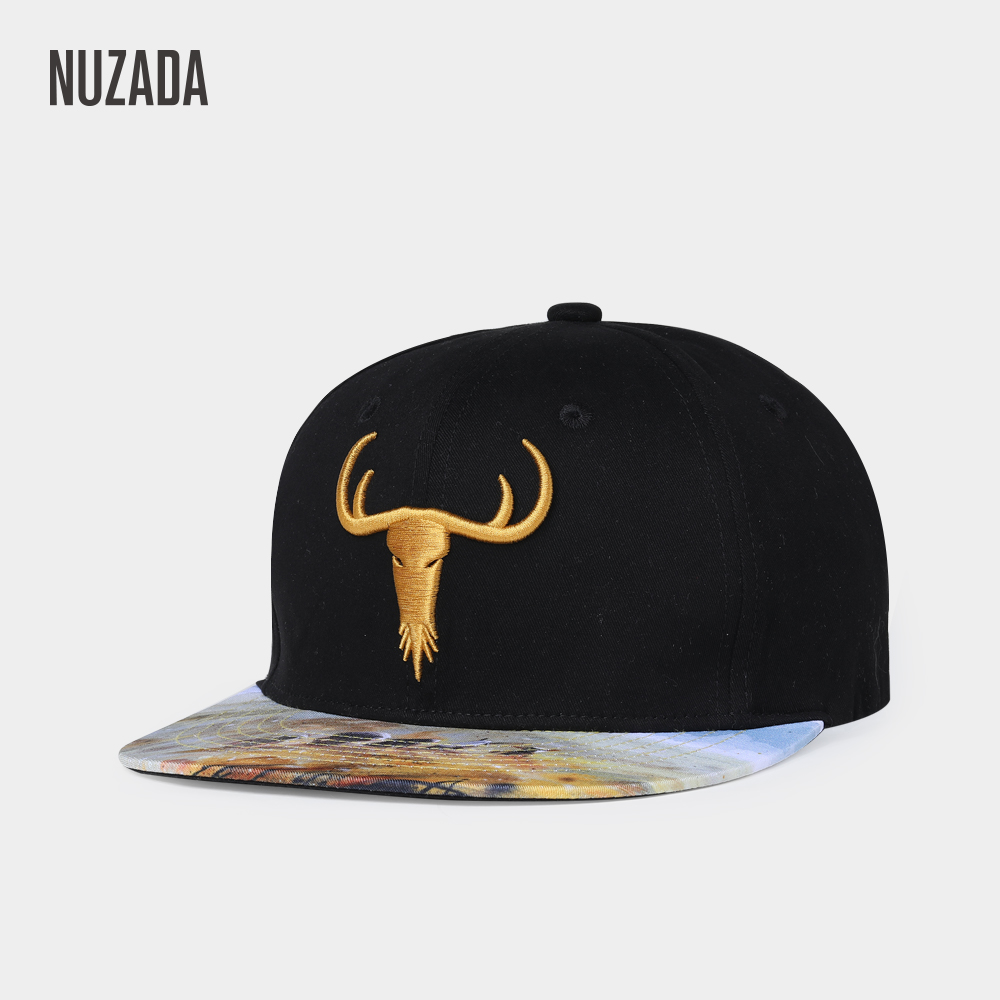 NUZADA Men Women Couple Hip Hop Cap Stretch Cotton Adjustable Size Spring Summer Letter Embroidery