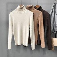 2018 Акция Для женщин свитера и пуловеры двойной 2018] новые зимние высокие с высоким воротником свитер с длинными рукавами куртка, тонкий, одно