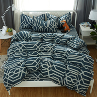 bedding sets Duvet Cover 3/4 pcs soft comforter quilt Cover Bedding set Striped Style Queen Full Twin king size New style
