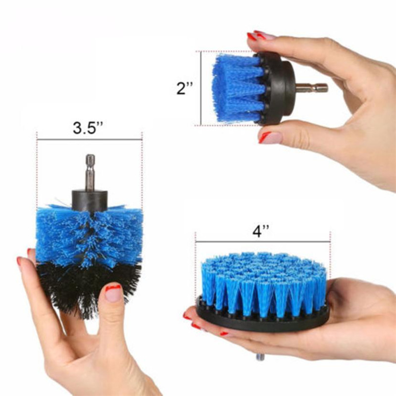 Electric Drill Brush Grout Power Scrubber Cleaning Brush Tub Cleaner Tool Scrub Clean Brush for Leather Plastic Wooden Furniture