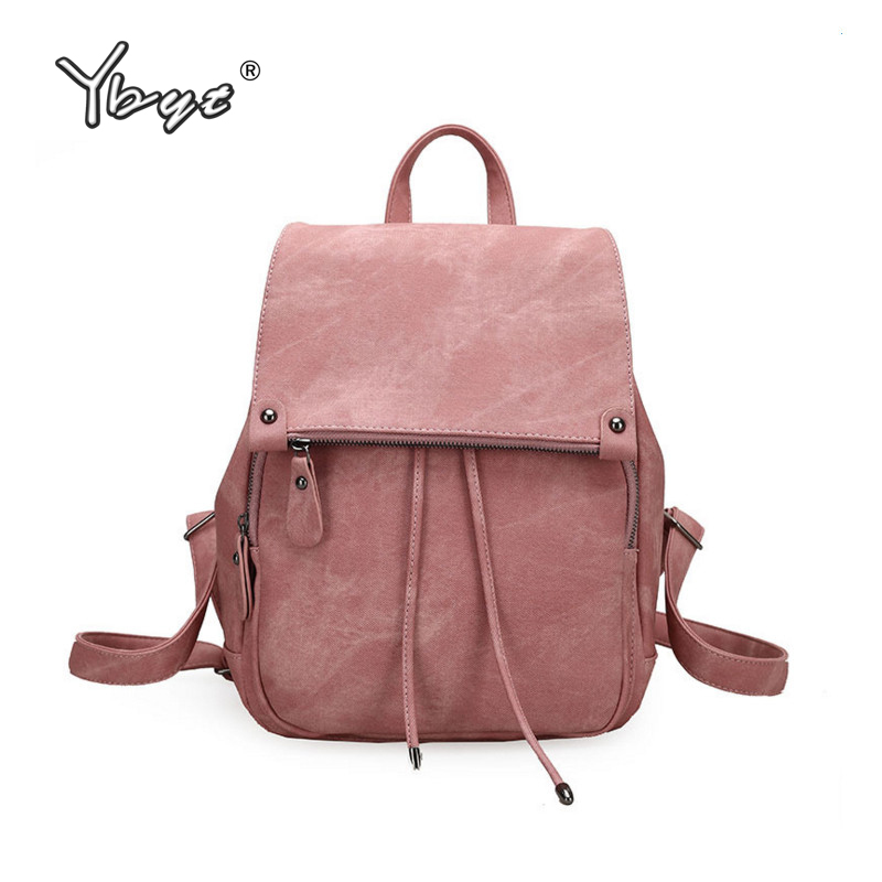 цены  YBYT brand 2017 new simple casual preppy style women kawaii backpack hotsale ladies solid travel bags student school backpacks