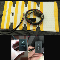 2pcs /1 Seat installed car seat heater alloy heated pads 12V seat warmer for Volkswagen 5 single control heating switch
