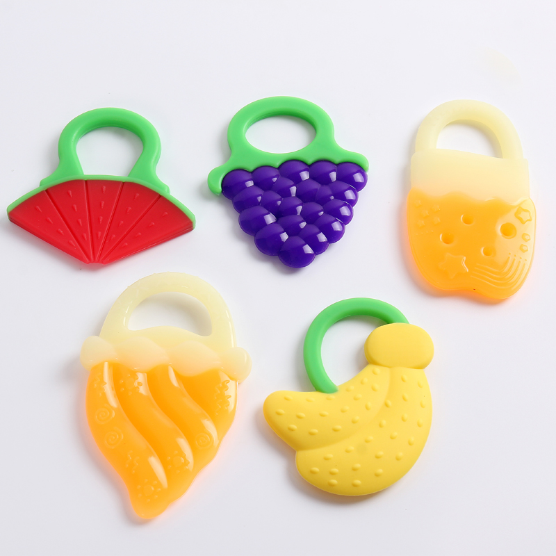 Safety Baby Teether Infant Ice Cream Training Silica Gel Toothbrush Stick Chews Teething Rings Hygiene Baby