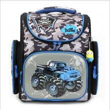 Delune Große Große Kapazität 3D Racing Autos Rucksack Motorrad Printing Schultaschen Kinder Tasche Orthopädische Rucksäcke Für kinder
