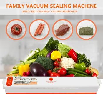 220V/110V Household Food Vacuum Sealer Packaging Machine Film Sealer Vacuum Packer Including 10Pcs Bags 1
