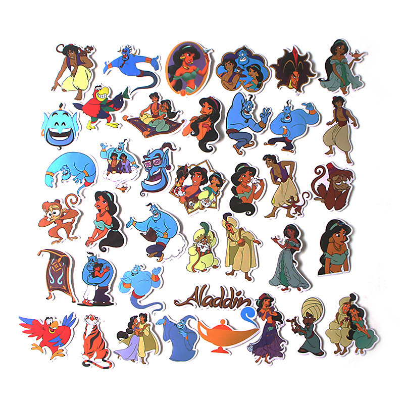 39pcs Alamagic Creative Cute badges DIY decorative stickers Cartoon style for DIY wall notebook phone scrapbooking album E0602 in Stickers from Home Garden