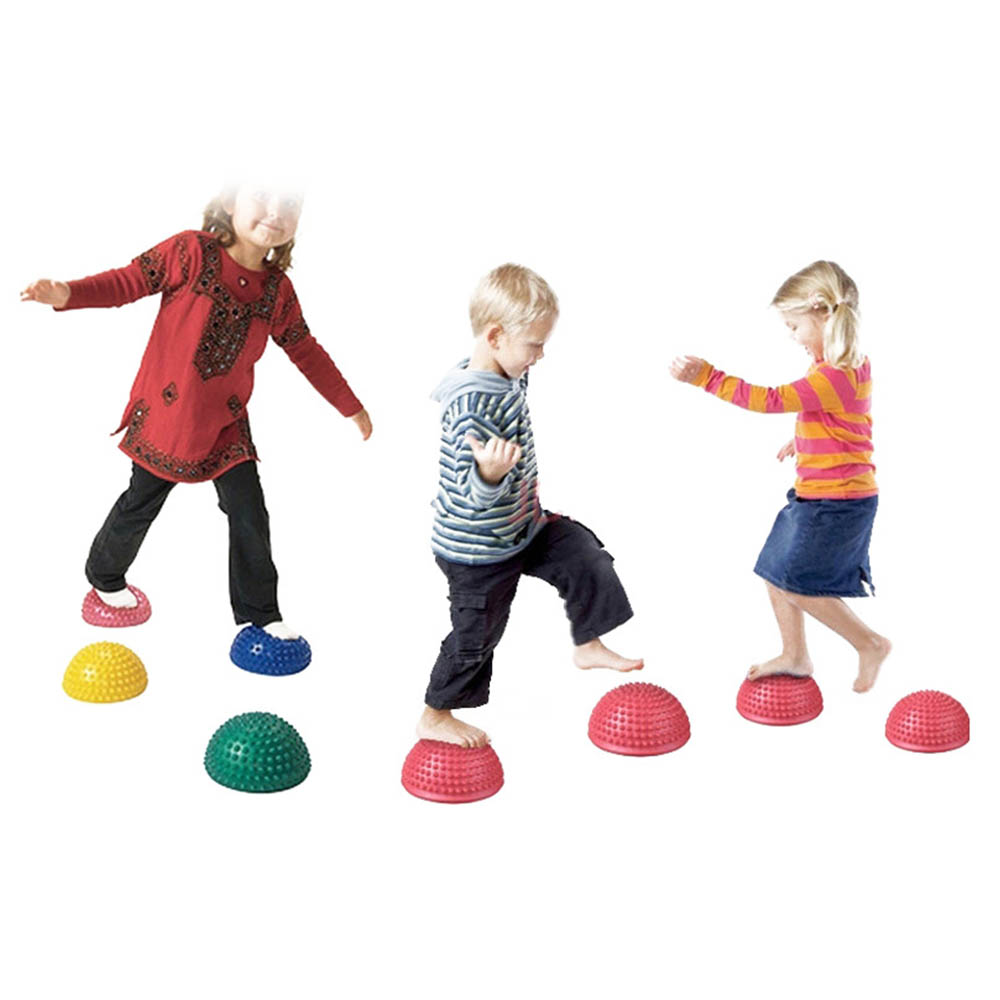 ①  Yoga Half Ball Фитнес-оборудование Массажный Коврик Упражнение Точка Баланса Тренажерный Зал Пилатес ✔