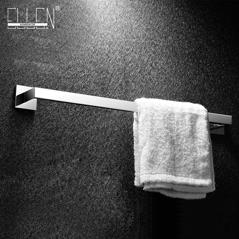 Stainless steel mirror polished single towel bar square towel rack bathroom wall mounted towel holder free shipping polished chrome bathroom towel rack holder wall mounted swivel towel bar hanger