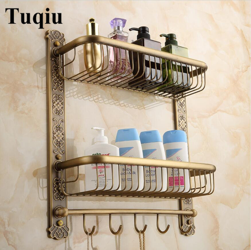 Wall Mounted Antique Carved Bathroom Soap Dish Bath Shower Shelf with robe hooks Bath Shampoo Holder Basket Holder Corner shelf гель лак для ногтей pupa lasting color gel 019 цвет 019 sumptuous mane variant hex name c93a56