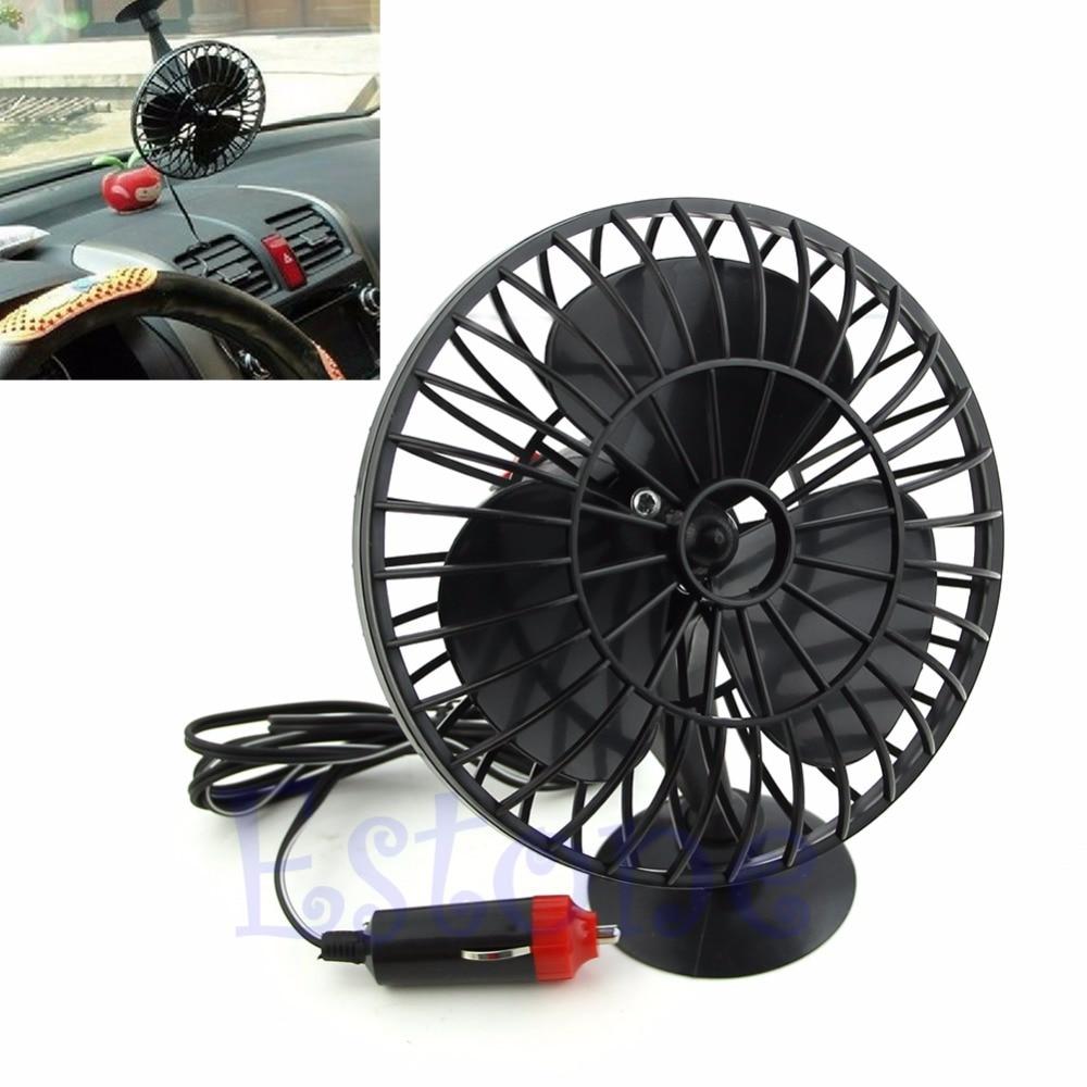 1PC Plastic 12V Powered Mini Truck Car Vehicle Cooling Air Fan Adsorption Summer Gift Black