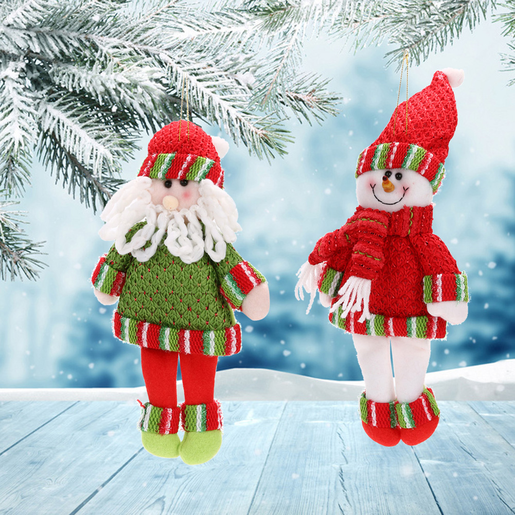 Merry Christmas Ornaments Home Party Santa Claus/snowman Xmas ...