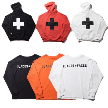 places+faces Hoodies Women Men 1:1 High Quality places plus faces pullover Sweatshirts places+faces Hoodies Борода