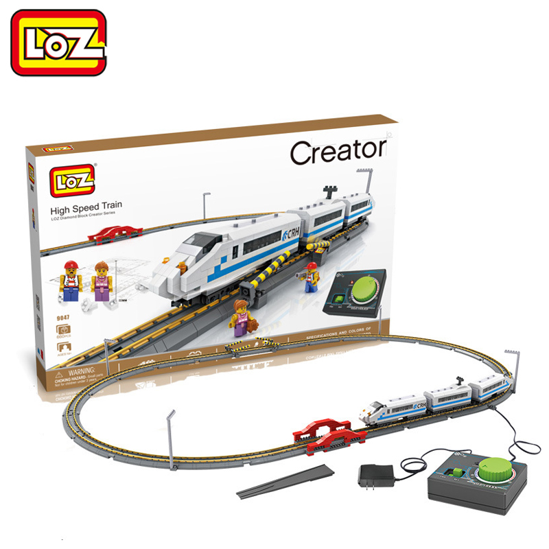 LOZ High Speed Train CRH + Rail 3D Model Remote Control Toy 660PCS Diamond Block Toy for Children Ages 14+ 9047