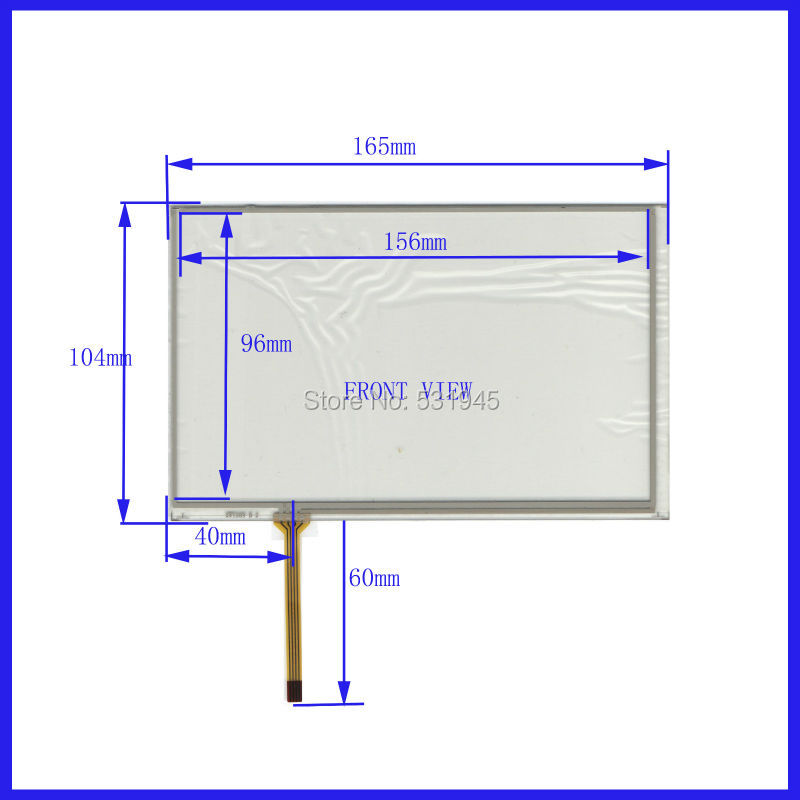 10PCS Lot 165mm 104mm XWT269 165 104 7 inch resistive touchscreen display on the outside flat