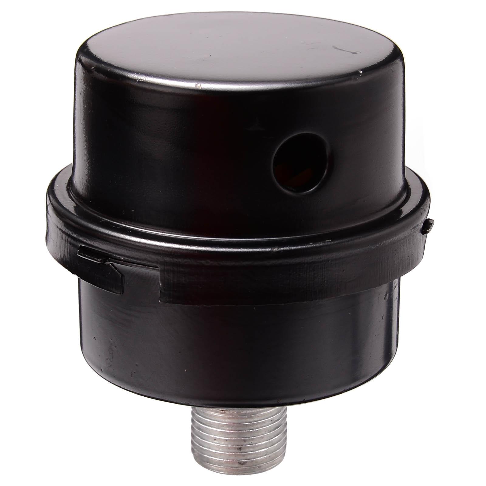 uxcell 1 Thread Black Plastic Shell Air Compressor Silencer Filter