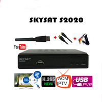 2PCS/LOT SKYSAT S2020 Twin Tuner IKS SKS ACM M3U Xtream code H.265 Satellite Receiver most stable server for South America Euro