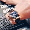 Luxus Marke GUOU Leder Uhren Männer Mode Sport Quarz Armbanduhren Platz Blu ray Business Mann Uhr Relogio Masculino|Quarz-Uhren|Uhren -