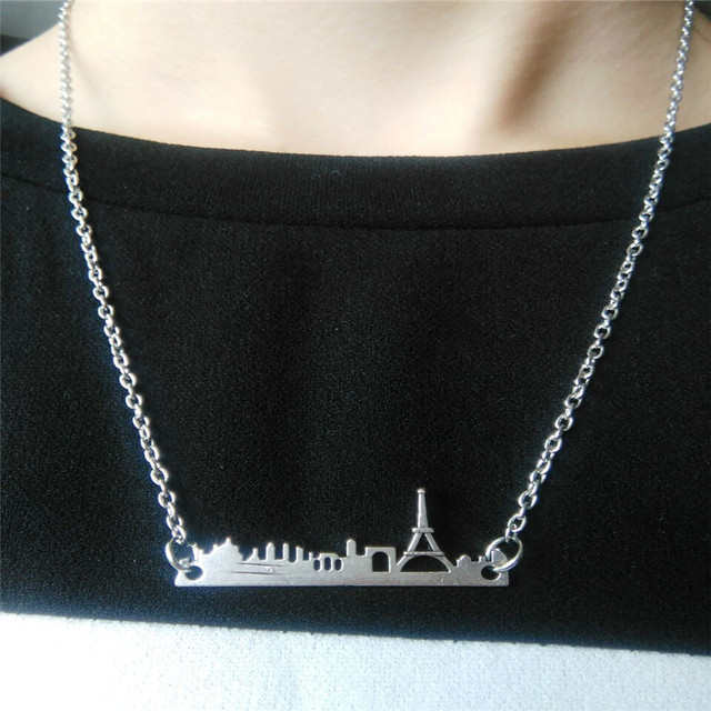 My shape france city skyline charmse french paris eiffel tower my shape france city skyline charmse french paris eiffel tower pendant necklace jewelry making aloadofball Images