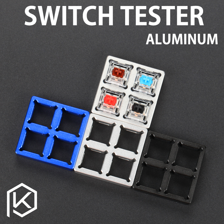 Aluminum Switch Tester  2X2 Silver Black Red Purple