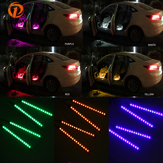 possbay usb flexibele rgb 16 led strip sfeer decoratieve neon lamp auto interieur verlichting decoratie