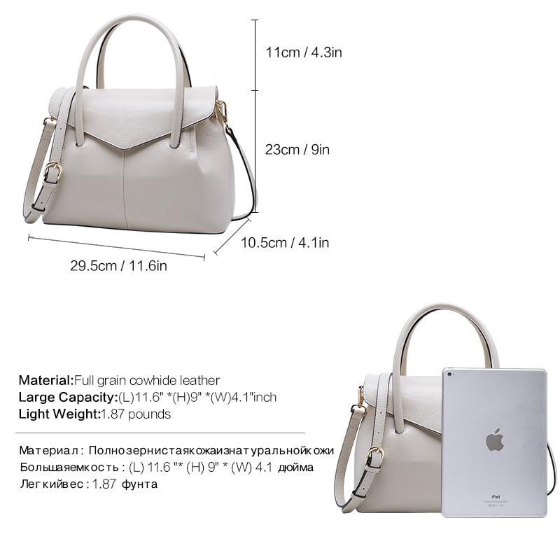 BOYATU Genuine Leather Shoulder Bags Female Luxury Handbags Women Bags Designer 2018 High Quality Ladies Brand Top-handle Party