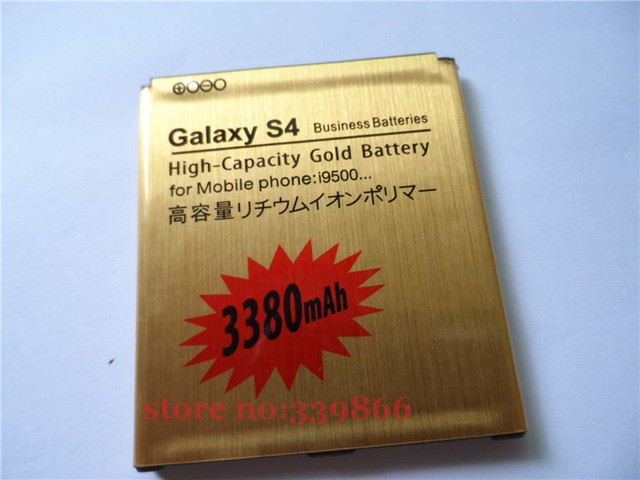 new for GOLD 3380 MAH REPLACEMENT BATTERY for SAMSUNG GALAXY S IV/S4 I9500 battery