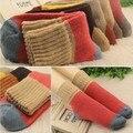 10 unidades = 5 pares nuevo diseño de calcetines de alta calidad de Lana de Invierno de las mujeres Calcetines de Algodón color de la mezcla