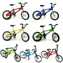 цена на Alloy Mini Finger BMX Bicycle Flick Trix BMX Bicycle Model Finger Bikes Toys Bike Tech Deck Gadgets Novelty Gag Toys For Kids