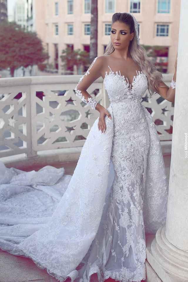 Великолепное новое белое свадебное платье 2020 с О-образным вырезом и длинным рукавом, свадебное платье с аппликацией и шлейфом