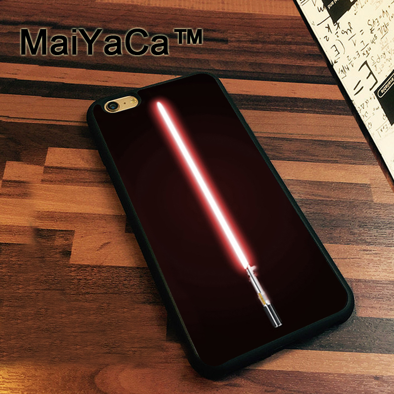 MaiYaCa Star Wars Lightsaber Rubber Back Cover Soft TPU Cover Fundas for iPhone 7 Luxury Protective Case for iPhone 7 Bag