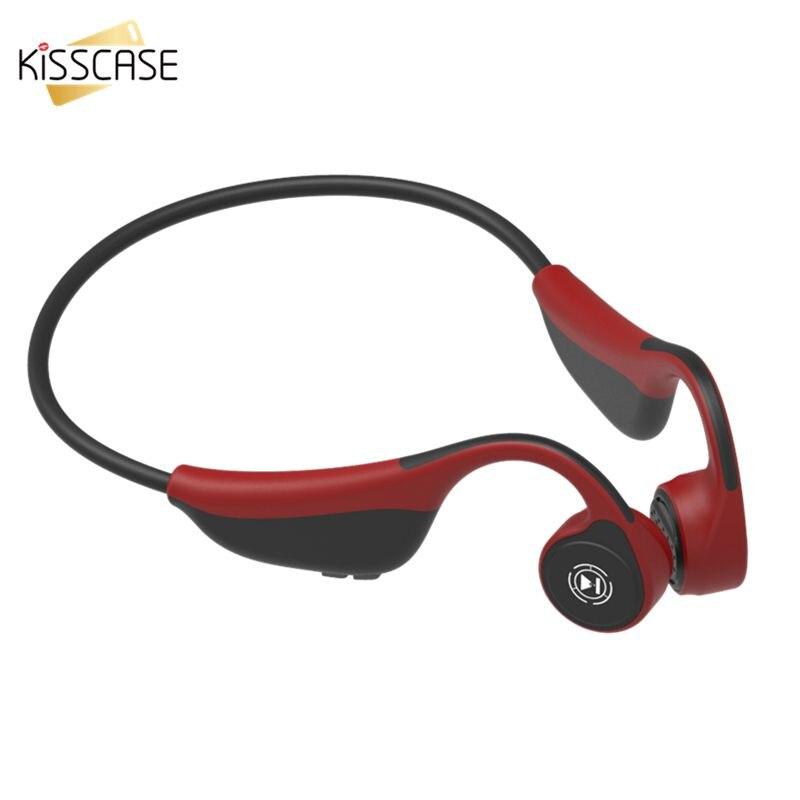 KISSCASE en cours d'exécution sans fil Bluetooth casque écouteurs pour téléphone Conduction os casques sans fil écouteurs mains libres casques
