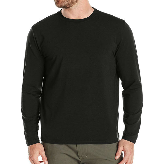 2f7f38847ecd RFBEAR Brand Solid Color Cotton t shirt 2018 Autumn and winter man T-shirt  fashion long sleeve o-neck casual t shirt