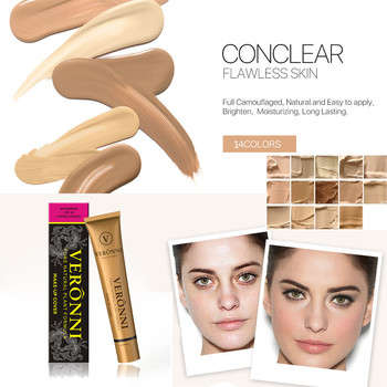 2018 New Fashion Concealer Brighten Long Lasting Full Coverage Cream Concealing Foundation Concealer Makeup Silky Smooth Texture Body Care