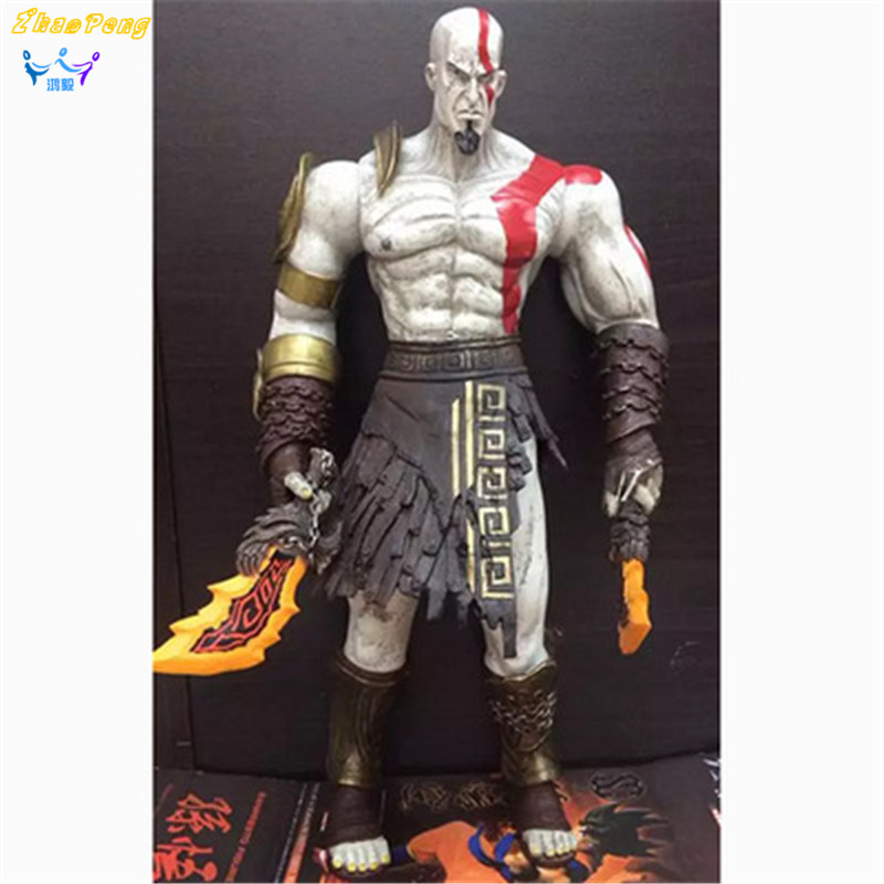NECA God of War 3 Kratos 18 inches Kratos Ghost of Sparta PVC action figure Collectible Model  doll Toy with box god of war statue kratos ye bust kratos war cyclops scene avatar bloody scenes of melee full length portrait model toy wu843