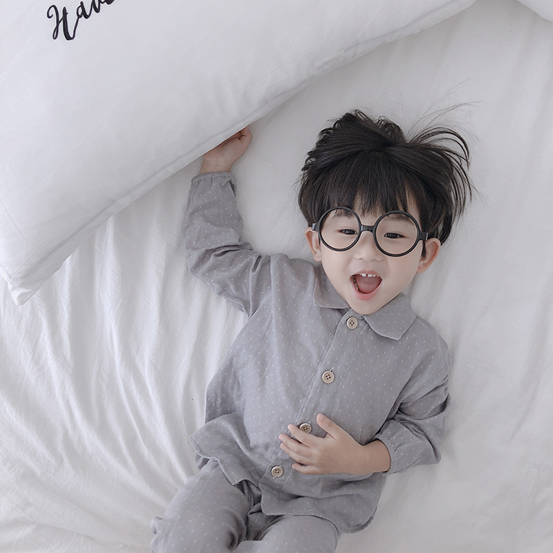 Kids pajamas  spring and autumn shirt for boys girls in 2019 pajama set
