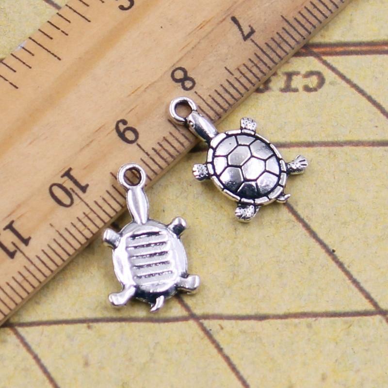 10pcs Charms turtle 11 19mm Tibetan Silver Plated Pendants Antique Jewelry  Making DIY Handmade Craft c88913f96d4c