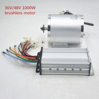 e scooter motor kit 1000W 36V 48V Brushless DC electric Motor with controller for e scooter/electric bicycle/tricycle/ebike