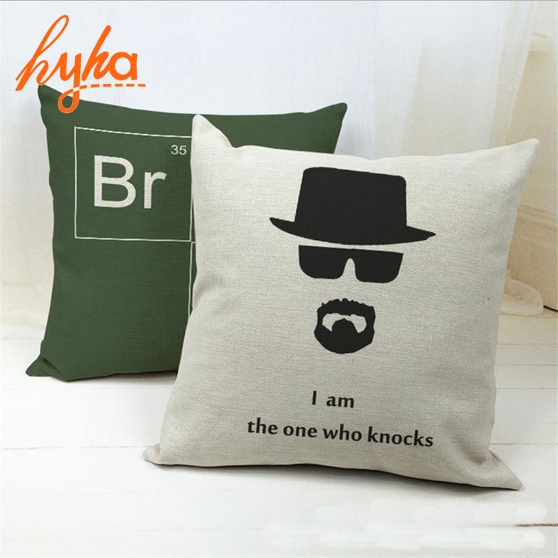 Cushion Hit US drama Breaking Bad Cushion Cotton Linen 100% Polyester Sofa Car Cushion Bedroom Chair Throw Pillow Home Decor