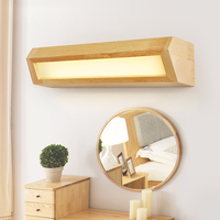wooden Japan Style Wall Lamp Led source for Bedroom Wall Sconce solid wood wall light Lamparas Home Lighting Fixture AC110V 220V