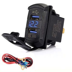 Image 4 - Быстрая зарядка 3,0, двойной USB клавишный переключатель QC 3,0, быстрое зарядное устройство, светодиодный вольтметр для лодок, автомобилей, грузовиков, мотоциклов, смартфонов и планшетов