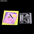 ABOOM Notebook Journal Card Scrapbooking Frame Dies Metal Cutting Die Stencils Craft Dies Cut New 2018 For DIY Decoration Mold