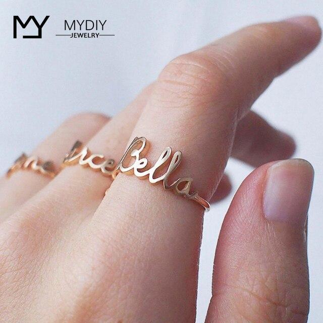 925 srebro spersonalizowana nazwa pierścionki złoty kolor data Numbers Heart Sprial Ring dla kobiet mężczyzn biżuteria na prezent