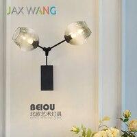 LED 북유럽 벽 램프 특성 유리 공 벽 조명 엔지니어링 램프 거실 침실 레스토랑 조명 Luminaire Avize