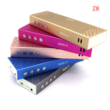 Z8 BIJELA Altavoz Bluetooth para Xiaomi para mi teléfono Inalámbrico Apoyo TF Tarjeta de Audio estéreo Mini Reproductor de MP3 Portátil de Bolsillo AUX-in