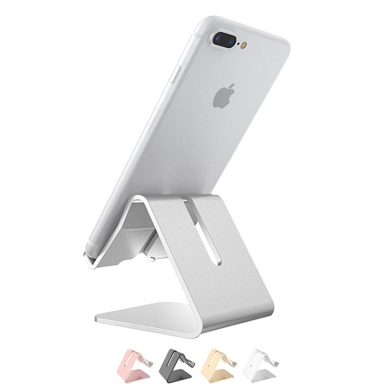 Universal Mobile Phone Holder Mental Desk Phone Stand Non-slip Holder For IPhone X 8 Samsung Xiaomi