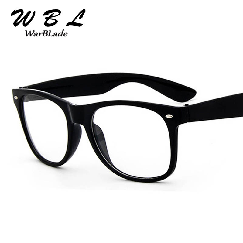 WarBLade 2018 Fake Glasses New Design Crystal Clear Frame Transparent Frame  Eyeglasses Square Eye Spectacle Clear Lens