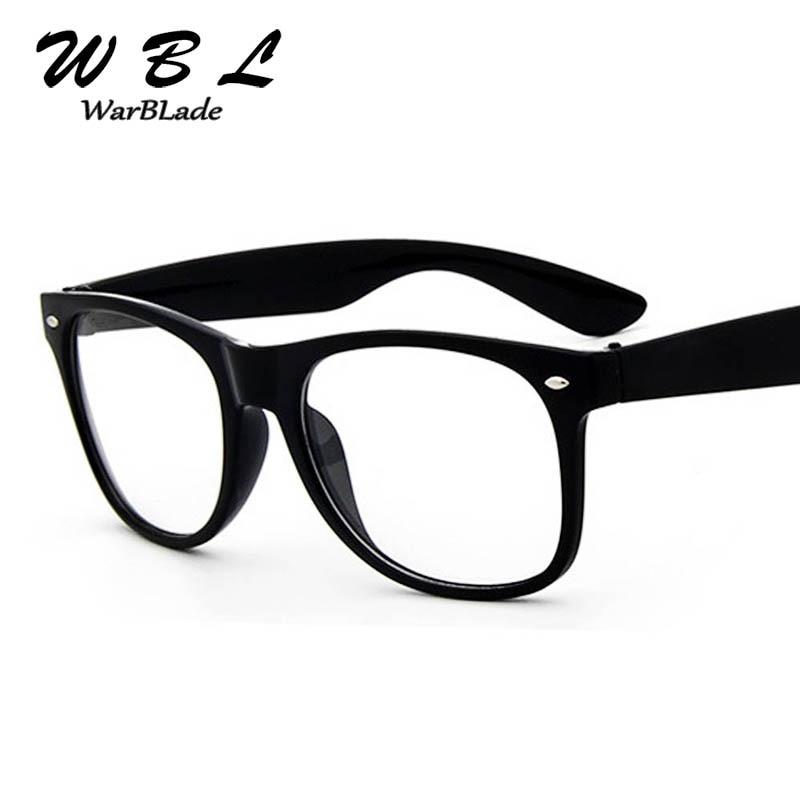 WarBLade 2018 Fake Glasses New Design Crystal Clear Frame Transparent Frame  Eyeglasses Square Eye Spectacle Clear Lens