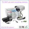 Envío libre impermeable al aire libre dvr cámara de salida de TV de audio/video recorder soporte 64G tarjeta tf loop recording